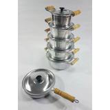 c7161b11c33 Jogo De Panelas Alumínio Batido Goiânia Top + 1 Brinde
