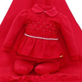 Saida De Maternidade Paraiso Bebê Menina Macacao Ref 8337