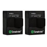 Smatree High Capacity Li-polymer Battery (2-pack) 1290mah Fo