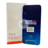 Xiaomi Redmi Note 7 64gb Azul 4g +capinha+ Película+fone+ Nf
