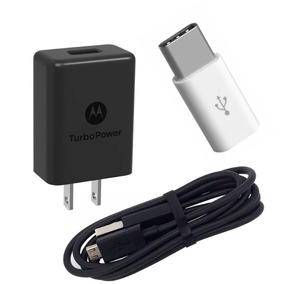 Cargador Rapido Motorola Turbo Power Micro Usb + Tipo C