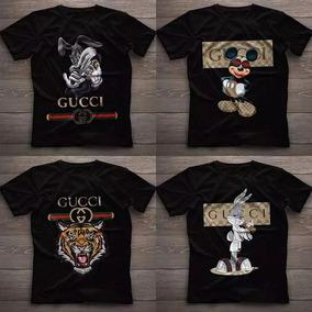Kit 4 Camisa Gucci Tigre Blusa Grizzly Supreme Dgk Unissex