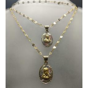 Medallas Para Boda Con Cadena Oro Solido 10k Promo