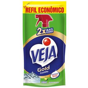 Refil Veja Gold Cozinha Desengordurante Limão Sache 400ml
