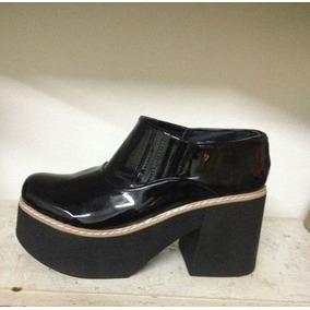 Botas Botineta Zapatos Plataforma Mujer Charol Moda 2018
