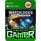 Watch Dogs Complete Edition Xbox One N0 Codigo Offline