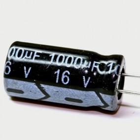 Capacitor Eletrolitrico 1000uf 16v 105° 16x08 20 Unidades