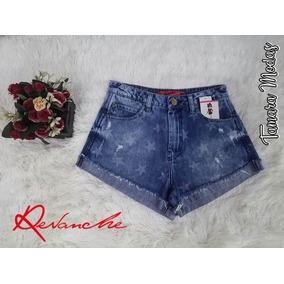 Shorts Revanche Com Lycra/estrelinhas / Tam 36 / Revanche
