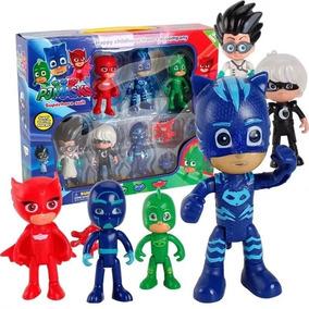 Pj Masks Heróis Kit Com 6 Bonecos + 3 Pçs