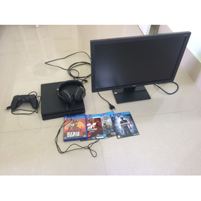 Ps4 500gb + Monitor Acer + Headset + 5 Jogos