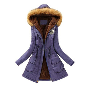 Abrigo Largo Para Frio Invierno Para Mujer Purple Lookatol1