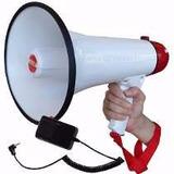 Megafono Amplificador Portatil 15w,sirena, Graba,microfono,