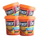 4 X Pasta De Amendoim - Power One (4 Opções De Sabor)