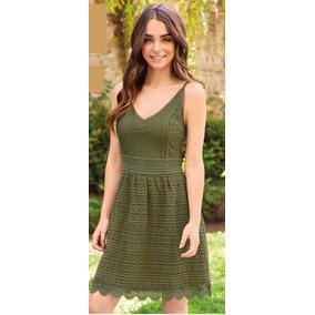 Vestido verde oliva mujer