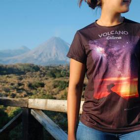 Playera Volcánica Dryfit, Volcán & Vía Láctea Dama