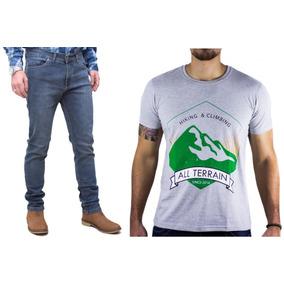 Kit Masculino Calça Jeans Stone Camisa Cinza All Terrain Atr