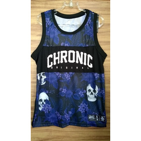 Camiseta Regata Basquete Floral Chronic Original