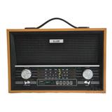 Radio Antigo Retro Fm Am Com Bateria Recarregável E Lanterna