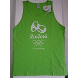 Camiseta Olimpiadas Rio 2016 Camisa Regata Verde Logomarca 535c617a23491