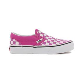 Tenis Vans Slip On Checker Rosa Blanco Cuadros 17-21 4cbb473a11a