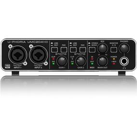 Interface De Audio Usb Behringer Umc204 Hd Pré Midas Nn