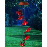 Días Del Jardín Cardinal Solar Mobile Wind Chime