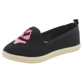 1b58bb6a4a Lojas Polyelle Calcado Feminino Sapatilhas Moleca - Sapatos Preto no ...