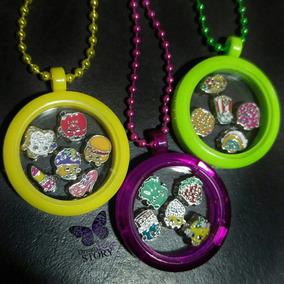 Locket Acrilico Colores, Charms De Shopkins, Cadena Gratis