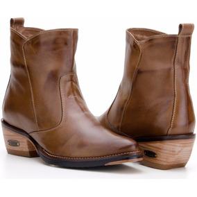 Bota Feminina Cano Baixo Country Couro Confort Capelli Boots adc7df354f
