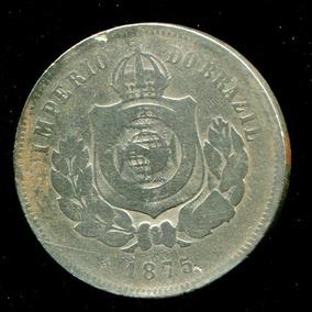 Moeda Do Império 200 Réis - Níquel - 1875 - Rara - Bc+ L1335