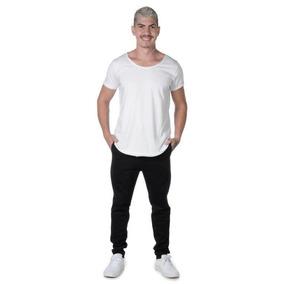 Camiseta Blusa Masculina Lisa Long Line Suffix
