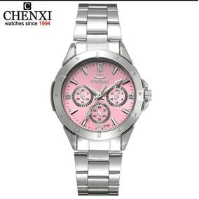 7732de24221 Relógio Feminino Chenxi Aço Inox Analógico Quartzo Promoção