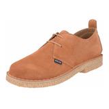 283cfbeeb8050 Sapato Com Solado Crepe Camurça Mostarda