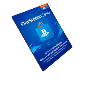 Cartão Playstation Store Brasil 60 Reais Psn Brasileira Br
