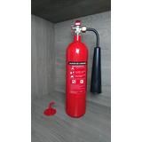 Extintor Gas Carbonico Co2 Cargado 2.3kg / 5lb Soporte Inclu