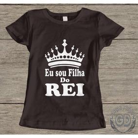 2d6fa11f37 Baby Look Preta Gospel Rei - Camisetas e Blusas para Feminino no ...