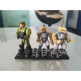 Halo Mega Bloks Shadow 3 Figuras Jackals Y Marine Sin Armas