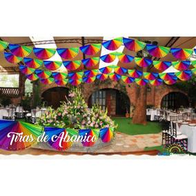 Papel Picado, Tira De Abanicos Multicolor. 1 Paquete, 30 Mts