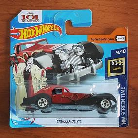 Cruella De Vil Hotwheels Mainline Cartela Pequena