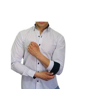 Camisa Slim Fit Peaceful Clothing Blanca Lunar