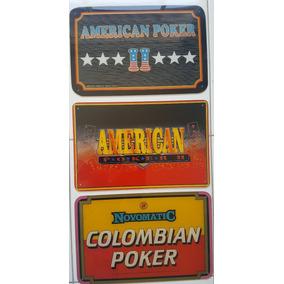 Lote Placas Video Poker Antigas Fliperama Acrílico Vintage