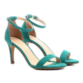 Sandália Couro Shoestock Naked Salto Fino Feminina