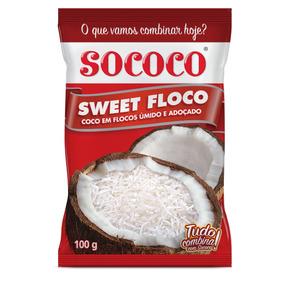 Sweet Floco Sococo 100g Kit Com 24 Unidades