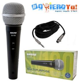Microfono Dinamico Shure Sv100 Con Swich Encendido + Cable