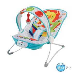 f6715439a Fisher Price Bebé Niño Mecedora Relajante Piano Musical Azul