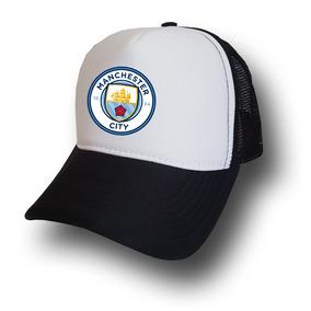 Boné Manchester City Telinha Aba Curva Bone Tela 24b44fc5c97