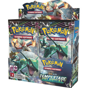Box 36 Boosters Pokémon Sol E Lua 7 Tempestade Celestial