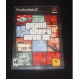 Solo Caja Y Manual De Grand Theft Auto Iii 3 Gta 3 Para Ps2