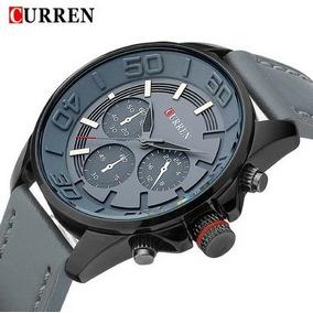 Relógio De Puso Curren 8187 Luxo Masculino Cinza Promoção