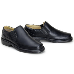 Sapato Social Casual Confort Masculino Em Couro Riber Shoes